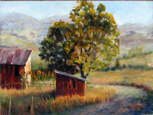 Barn Oil Painting