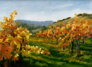 Wine Country Oil Painting